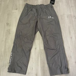 HUK Performance Fishing Packable Rain Pants Grey